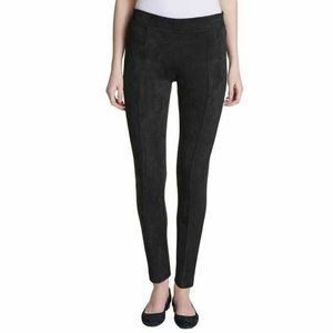 Andrew Marc Black Stretchy Faux Suede Legging Pant